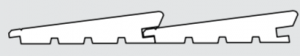 Palubka fasadni - profil Diagonala