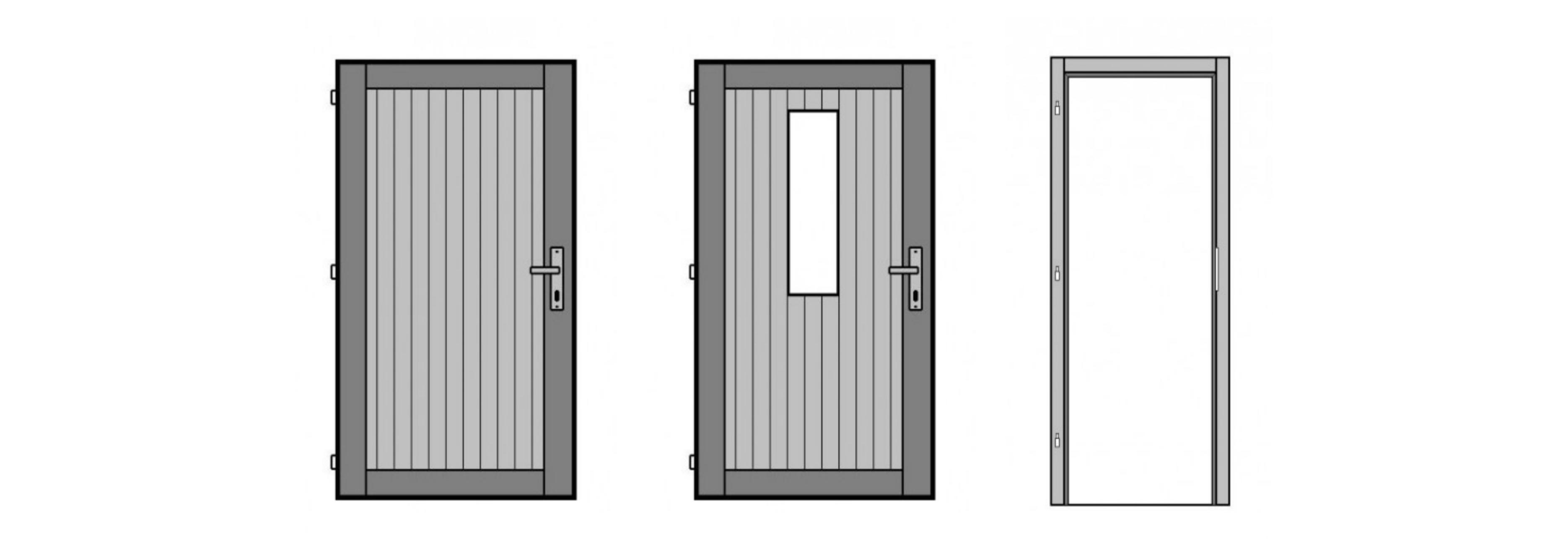 Palubkové dveře, dřevěná okna
