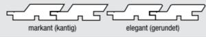 Palubka fasádní - profil Trendliner