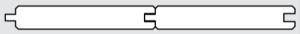 palubka obkladová - profil klasik oboustranný
