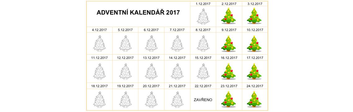 ADVENTNÍ KALENDÁŘ 2017